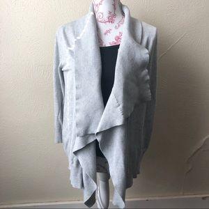 International Concepts Open Drape Cardigan M Grey